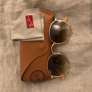 Ray-Ban Round Sunglasses RB3447 Gold